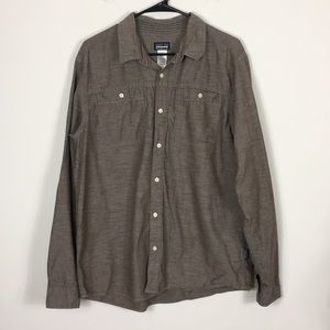 Patagonia Brown Collared Button Down Long Sleeve